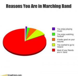 marching band memes | Reasons You Are in Marching Band – Cheezburger
