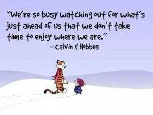 Correct..enjoy each day, each moment ♥