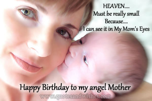hbd angel mother Happy Birthday wishes to my angel mother
