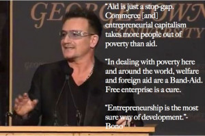 Bono Sings the Praises of Capitalism