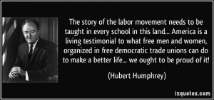 The story of the labor movement needs to be taught in every school in ...