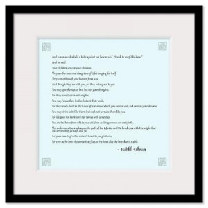 ... Wall Art > Framed Prints > Kahlil Gibran Quote Wall Art Framed Print