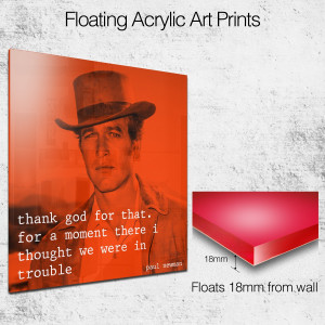 paul newman quote square wall art