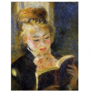 Girl Reading Book Poster by Renoir