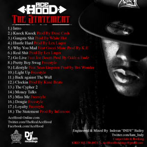Ace Hood - The Statement Mixtape Back