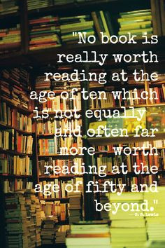 quotes about books and libraries | lewis books peter pan library words ...