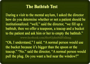 The Bathtub Test