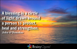 ... circle of light drawn around a person to protect, heal and strengthen