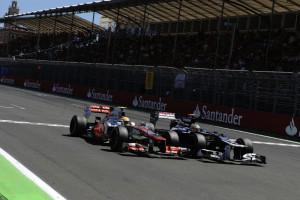 Lewis Hamilton, Pastor Maldonado, European GP 2012