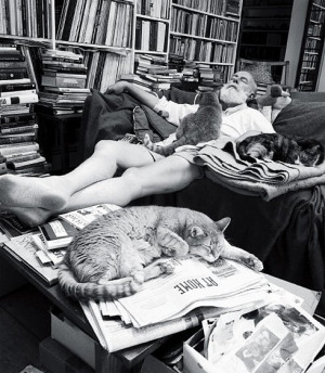 Edward Gorey ( I don't know much about his personality)...I liked this ...