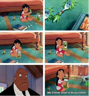 Lilo and Stitch- HAHAHAHA!!! I wish I thought of this when I was ...