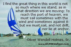 Oliver Wendell Holmes, Sr. moving