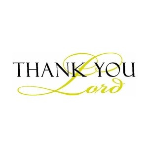 Thank You Lord.