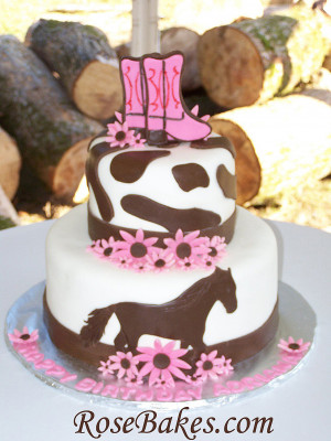 Adventures in Baking :: Cowgirl / Horse Birthday Cake