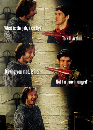 Arthur and Gwen Merlin 4.06 - Sir Leon and Merlin LOL!