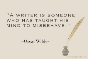on the mind of a writer except that bit about his he couldn t help the ...