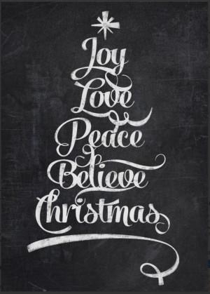 tree calligraphy - http://www.zazzle.com/chalkboard_christmas_joy_tree ...