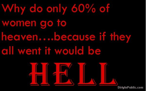 Why do only 60% of women go to heaven... #women #heaven #hell