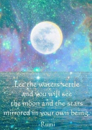 Let the waters settles and you will see the moon and the stars ...