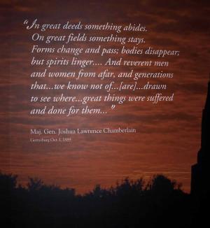 Joshua Chamberlain Famous Quotes