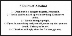 funniest alcohol rule, funny alcohol rules