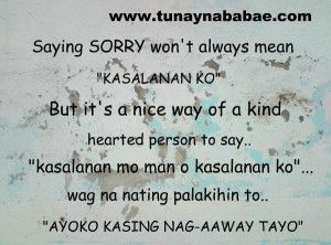 sorry love quotes tagalog