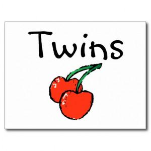 Funny Twin Sayings Postcards