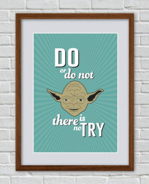 The Empire Strikes Back Yoda inspired vintage movie quote poster - via ...