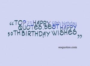 Top 23 happy 50th birthday quotes