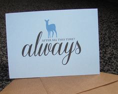 harry potter always greetings card by heykatiedesigns on Etsy More