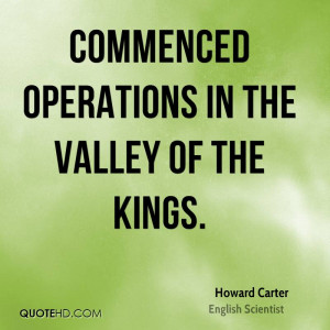 Commenced operations in the Valley of the Kings.