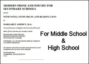 Middle School Poems