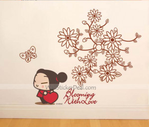 Blooming With Love Flowergirl Wall Sticker