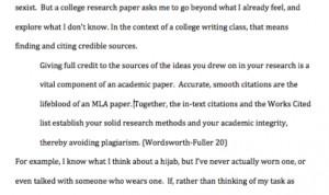 putting large quotes in essays