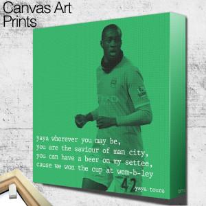 man city yaya toure quote 2 square wall art