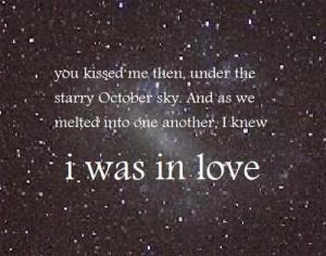 cute, love, october, quote