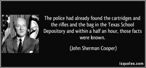 within a half an hour those facts were known John Sherman Cooper