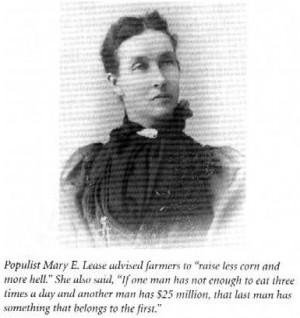 Woman Populist Mary Elizabeth Lease