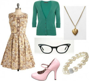 Fashion inspired by Skeeter Phelan from The Help: Floral dress, green ...