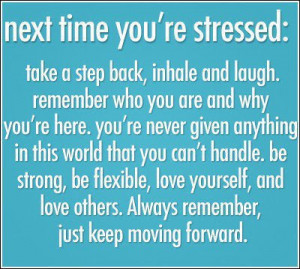 ... listen all of these things cause stress stress not a good thing but