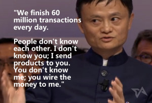 He said that a government could never create ecommerce, but he still ...