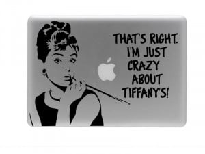 Breakfast at tiffany's vinyl decal and sticker quote audrey hepburn