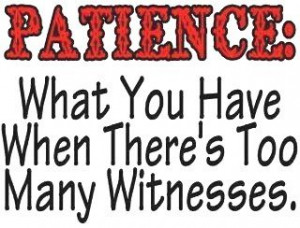 Patience What You Have When