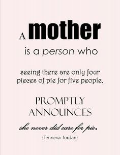 mother is always willing to sacrifice for the sake of her family. Love ...