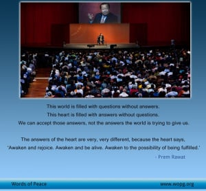 World Peace quotes - Prem Rawat