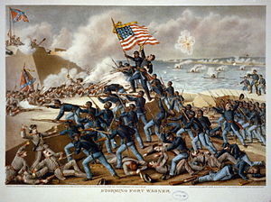 The 54th Massachusetts at the Second Battle of Fort Wagner , July 18 ...