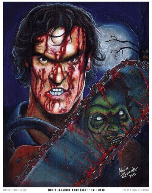 Now Ash Evil Dead Print by TheArtofRavenwolf, $20.00Tattoo Ideas, Evil ...