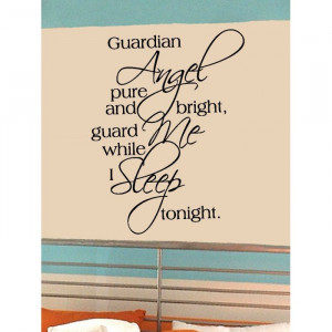 Guardian Angel vinyl wall lettering words sticky art home decor quotes ...