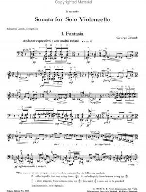 Cello Solo Sheet Music