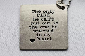 Firefighter #Love #Necklace